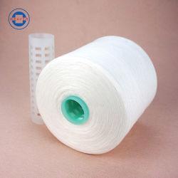 Raw filés de polyester blanc, 100 % du fil à coudre 52/3