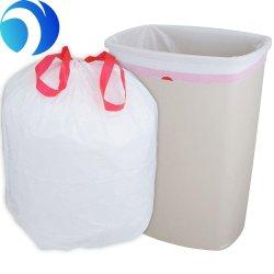 Le PEHD PEBD Compostable en plastique biodégradable Amidon de maïs Drawtape fermeture Sac avec lacet de serrage pour les ordures, corbeille de la poussière