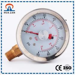 Rellena de Líquido Calibrador de Presión de Agua de China Manómetro de Aceite Barato
