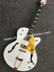 Chitarra elettrica della Rosa del Fingerboard del corpo della Corea del sintonizzatore del foro Semi-Vuoto di legno bianco di jazz F