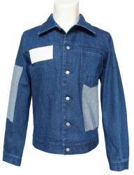 Сложный дизайн Голубой Пэтчворк мужские джинсовые куртки