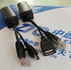 Salida de potencia femenina del divisor 10/100Mbps 5V 2.4A del USB Poe para el iPad