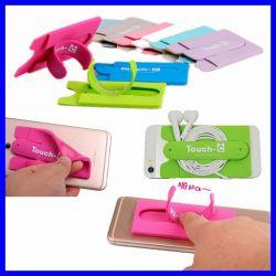 Handy-Karten-Taschen-Standplatz-Halter, Förderung-Kartenhalter, beweglicher Standplatz mit Kartenhalter