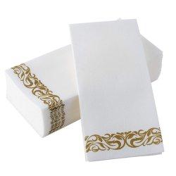 Une impression de qualité Or Argent papier Air-Laid Cloth-Like Serviette hygiénique