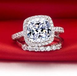 Estrela branca transparente brilhante Anel de Diamantes artificiais de moda joalharia
