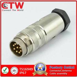 IP67 M16/M12/M23/M8 금속 방수 케이블 원형 전원 연결 장치