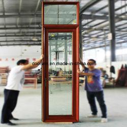 Fester Bauholz-Aluminiumpatio-Glastür, hochwertiger thermischer Bruch-Aluminiumtür mit Doppelverglasung-Glas