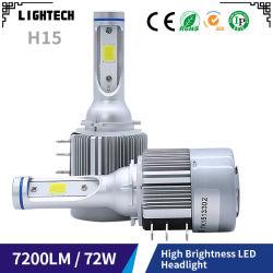 Auto LED-koplamp 7600lm LED-koplamp op motorfiets Met LED Xenon HID-sets en H7 LED-koplamp