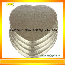 Sentire Shape 12mm Thinckness Silver Foil Paper Wrapped Cake Drums con lo SGS (B&C-K039)