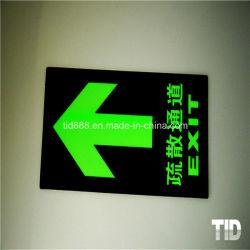 Fotoluminescent Vinyl Gloeiende Nooduitgang Veiligheidsborden