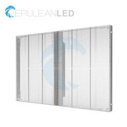 풀 컬러 실내 투명한 LED 스크린 P3.91 P5 P7 P10 모듈 투명한 발광 다이오드 표시