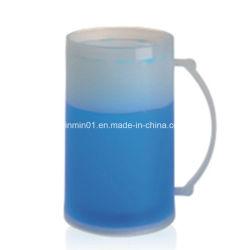 Пластиковые двойные стенки льда морозильной камере кружка с жидкостью для холодных напитков