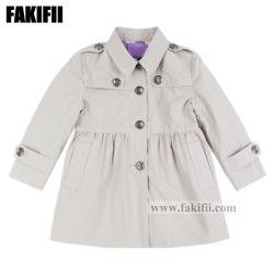Детей одежды Одежда для детей Зимняя куртка серого цвета девочек хлопок одежды