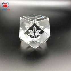 Personnalisé gravé au laser 3D Crystal Cube pour les cadeaux d'attribution de l'artisanat