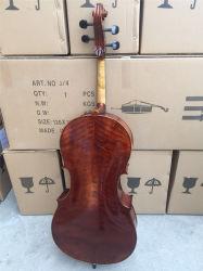 Ausgewähltes gezierter Oberseite-Fortschritts-professionelles altes Flamme-Cello