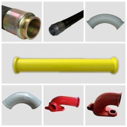 Betonpumpe-Anlieferungs-Rohr des unterschiedlichen des Größen-Betonpumpe-geraden Rohr-haltbares 5.5inch St52 nahtloses Gefäß-3m