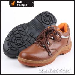 Semelle extérieure en PVC avec cuir artificiel de chaussures de travail (SN5256)