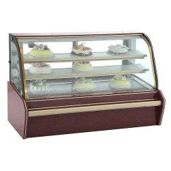 Visualizzazione commerciale della vetrina della torta del frigorifero del doppio arco di lusso