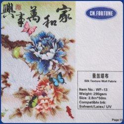 Alta qualidade de textura de seda tecido na parede com design exclusivo