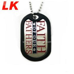 Commerce de gros de la mode libre Forme personnalisée en usine métal militaire Dog Tags de la chaîne à billes