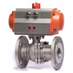 Dn15~200 Q641f-16R SS316 фланец пневматической воды шаровой клапан