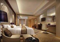 Suite Estúdio Luxo Custom-Made clássico hotel de estofados de vidro de madeira escura