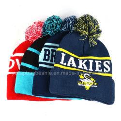 100%tricoté en acrylique Beanie Hat d'hiver, en bonneterie
