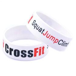Bracelete de Silicone Customed presente de promoção do desporto em relevo Debossed /Imprimir Pulseira de Silicone