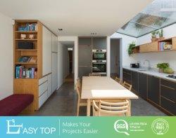 Prêt à assembler les meubles design personnalisé MFC Cadre en bois gris armoires de cuisine de porte