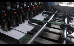 Мотовило бумага загрузка, Flexo постановления, нарезки, склейка, складывания и фрезерный станок