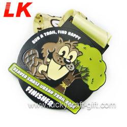 Medaillen und Farbband des Metallfertigkeit-kundenspezifische preiswerte Läufer-5K