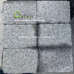 Het donkere Grijze Gevlamde Graniet tuimelt de Betonmolen van Setts van de Kei van het Terras voor het Project van de Villa