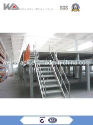 Suspensão com Plataforma de aço de andaimes, plataformas de aço industrial, rack do sistema de armazenamento de mezanino suportados