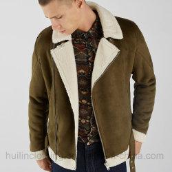 겨울 Shearling 고리 스웨드 가죽 재킷 남자 겨울 재킷