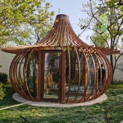 Linterna de seguridad de diámetro 400 cm Tipo de materiales de construcción modular de la estructura de acero de la casa móvil prefabricados Home