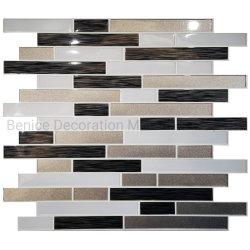 De vinyl Tegel van de Bekledingen van de Muur in Zwarte Grijze Zelfklevend voor de Decoratie DIY van de Muur van het Huis