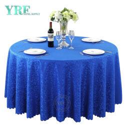 Le luxe à bas prix de linge de table Jacquard Round Table de mariage chiffon décoratif