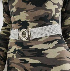 Mode de luxe de la chaîne Bright Rhinestone Crystal Diamond ceinture
