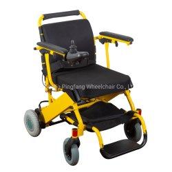 La aleación de aluminio motorizado plegable silla de ruedas eléctrica con CE, ISO13485