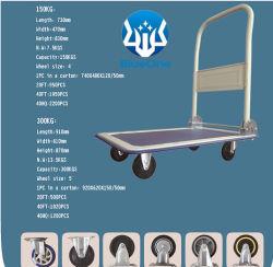Empurre o carrinho pneumático do veículo Dolly Dobrável rodas giratórias 360 Graus 150Kgs 300kg