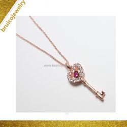 Manier 925 de Echte Zilveren Robijn van de Juwelen van Pendents van de Edelsteen van de Juwelen van de Halfedelsteen van de Halsband Gouden