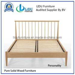 Твердые двойные кровати из дуба Кровать односпальная кровать из дуба/твердых сосновой деревянной кровати деревянные кровати двухъярусные кровати детские кровати безопасные Кровать односпальная кровать для детей