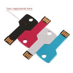 선전용 가장 싼 2GB 4GB 8GB 까만 USB 운전사 방수 금속 키 모양 USB 섬광 드라이브