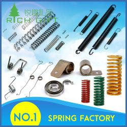 Fabrikant Maatwerk Kleine Metalen Roestvrij Stalen Compressie/Verlenging/Spanning/Torsie/Vermogen/Schroefveer Voor Machines