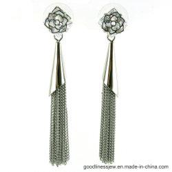السعر بالجملة 925 Sterling Silver Long Tassel الهامشية المتدلية مجوهرات أزياء إارينج (E6642)