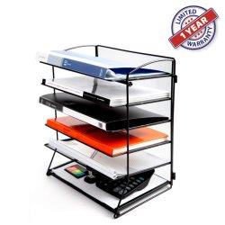 Grillage de métal Support de bureau Bureau étagère de trieuse 6 bacs de Dossier de fichier Desktop Organizer (ODT-6T)