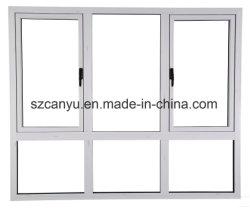 ほとんどの普及した中国の工場PVC開き窓の単一のガラス窓