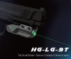 2019 Novo Sensor Inteligente Switch compacto pilhas recarregáveis de caça a pistola e espingarda Mini Colimador Laser Verde Olhos
