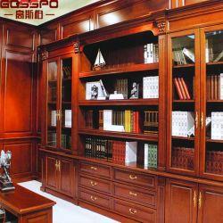 Bookcase двери 12 дюймов широкий стеклянный с ящиками (GSP18-031)