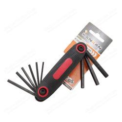 Cr-v SAE 9PCS Folding Wrench Hex Key Set für Hand Tools
